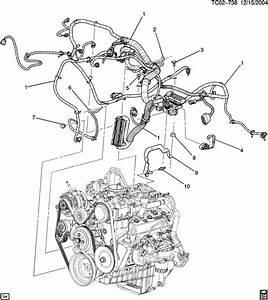 2003 Chevrolet Silverado Wiring Harness  Engine