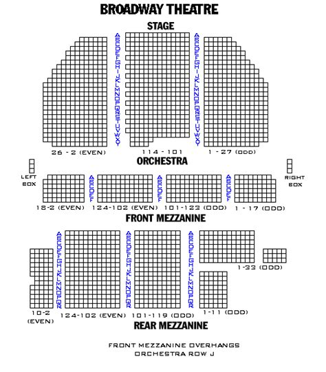 westchester broadway theatre seating chart seating chart broadway and broadway seating charts and plans