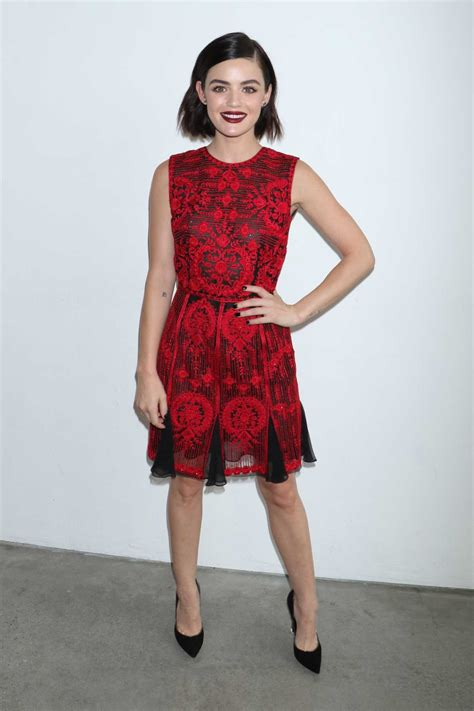 Lucy Hale at the Naeem Khan Show During New York Fashion ...