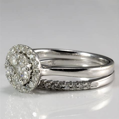 cluster diamond wedding ring band 0 62 ctw sz 7 25 100 ways