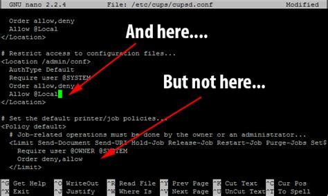 configuring  raspberry pi   airprint server rohan