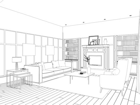 Free For Personal Use Living Room Drawing Of Your Choice