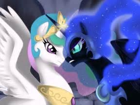 My Little Pony Princess Celestia vs Nightmare Moon