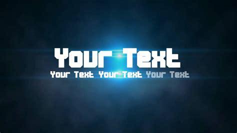 free intro free template flash text animation intro