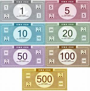 play money new calendar template site With monopoly money templates
