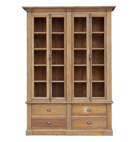 country bookcases country reclaimed wood large bookcase ebay