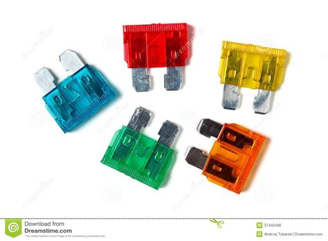 Car Blade Type Fuses Royalty Free Stock Photos