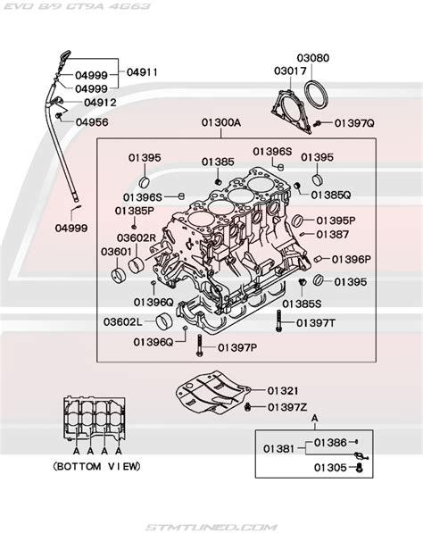 Mitsubishi Evolution Parts by Oem Evo 8 9 Engine Cylinder Block 11 130