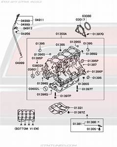Oem Evo 8  9 Engine Cylinder Block  11