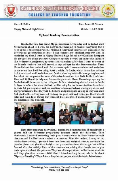 Teaching Narrative Demonstration Report Local Academia