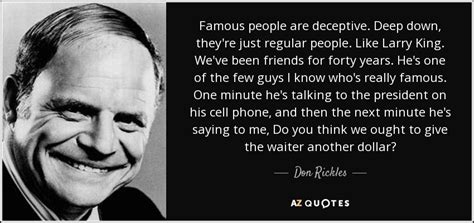 Don Rickles Quote Famous People Are Deceptive Deep Down