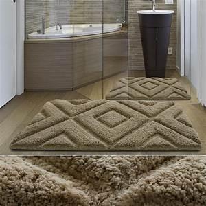 tapis de salle de bain original confort exceptionnel With tapis de bain epais