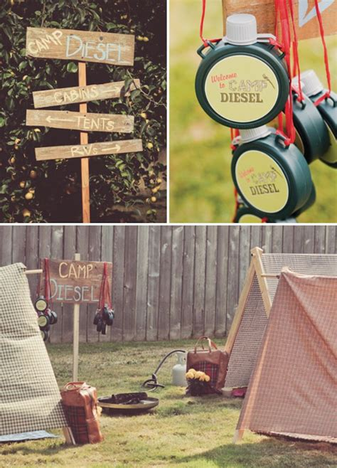 Wooden Camping Signs for Birthday Party