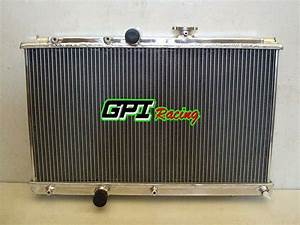 2 Row Aluminum Radiator For Toyota Corolla Ae101 1 6 1 8