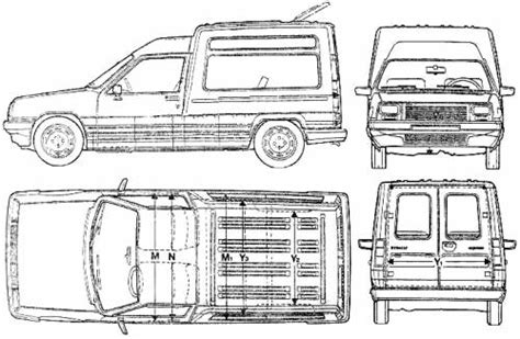 dimension renault express coffre the blueprints blueprints gt voitures gt renault gt renault express 1992