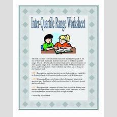 Grade 6 Math  Interquartile Range Worksheet & Answer Key  Common Core