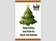 6 Christmas Cards in Excel – Download and Spread Joy
