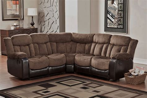 leather and microfiber sectional microfiber reclining sectional create so much coziness