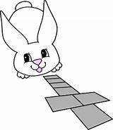Easter Hopscotch Dltk Coloring Riddles Holidays Template Sketch Printables sketch template