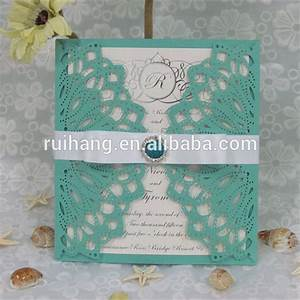 blue turquoise elegant laser cut wedding invitation buy With turquoise laser cut wedding invitations