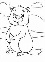 Coloring Groundhog Supercoloring Categories sketch template