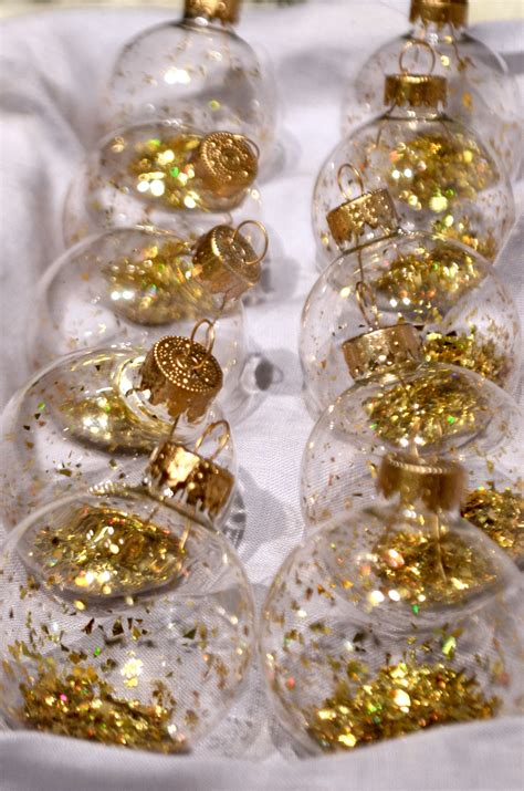 diy glitter filled ornaments angean angean