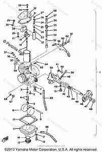 Yamaha Motorcycle 1977 Oem Parts Diagram For Carburetor