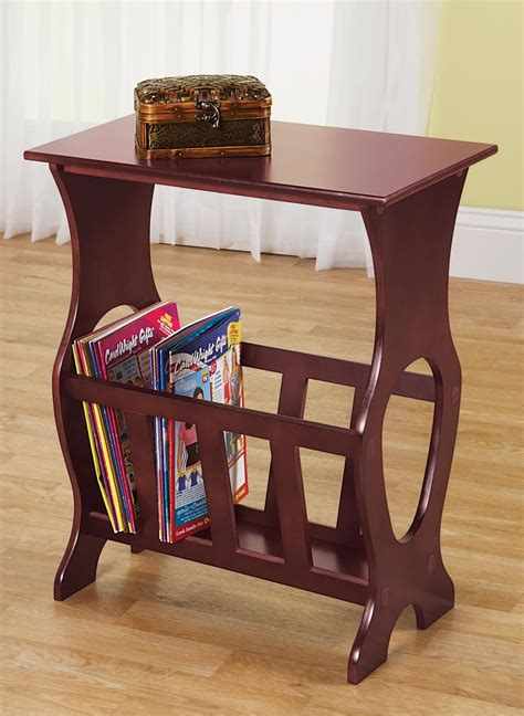 side table with l and magazine rack side table magazine rack carolwrightgifts com