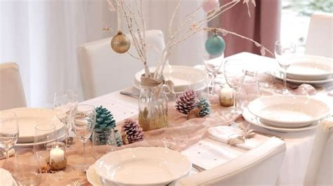 decoration noel table faire soi meme idees deco table noel faire soi meme visuel 7