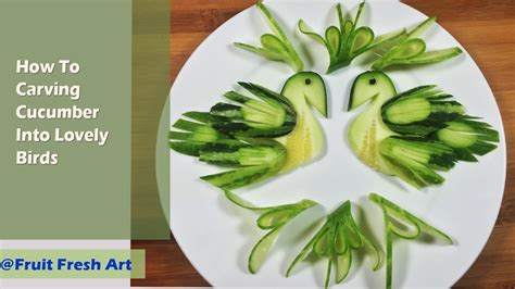 The Art Of Cucumber Carving Into Bird