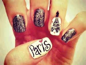 The word paris on one nail so which art are you going to