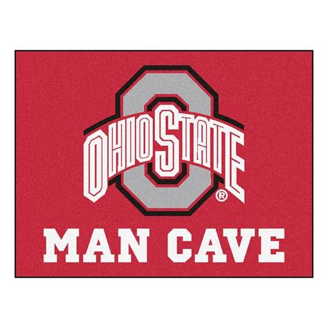 fanmats ohio state university red man cave  ft