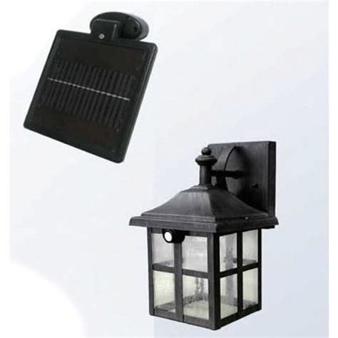 square solar powered entrance doorway led wall light