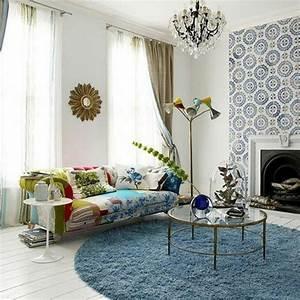 Runder teppich 30 neue vorschlage archzinenet for Balkon teppich mit tapeten wohnzimmer