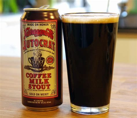 I think the beehive should serve coffee milk. Narragansett Autocrat Coffee Milk Stout - COOL HUNTING®