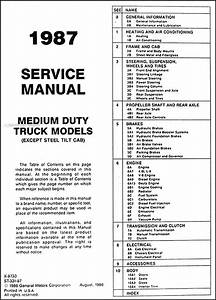 1987 Gmc Medium Duty Truck Repair Shop Manual Original