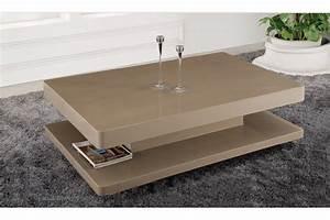 Table Basse De Salon : table basse moderne de salon table salon ronde en verre trendsetter ~ Teatrodelosmanantiales.com Idées de Décoration