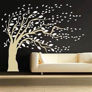 Blowing Tree Wall Art Design Trendy Wall Designs