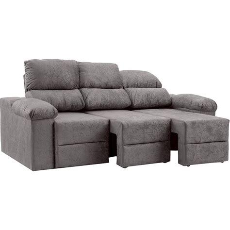 sofá suede amassado é bom sof 225 3 lugares reclin 225 vel e assento retr 225 til ripley plus