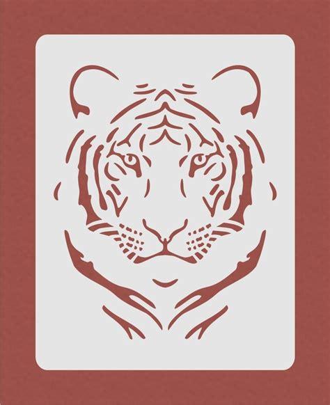 tiger stencil  airbrush crafting card making art work