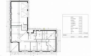 Maison 120m2 Plain Pied : plan maison plain pied en l 120m2 ~ Melissatoandfro.com Idées de Décoration
