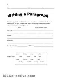 Writing Paragraphs Worksheets High School