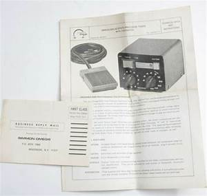 Omega Solid State Timer Foot Instruction Manual Book Guide