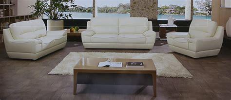 dado 3 italian top grain white leather sofa set