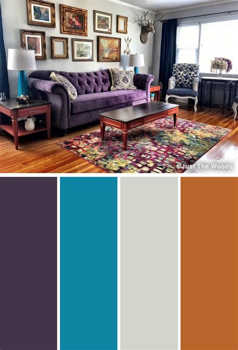 unique purple color combinations   ideas