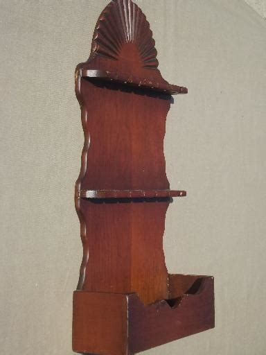 vintage wood spoon rack country pine wall box spoon holder display