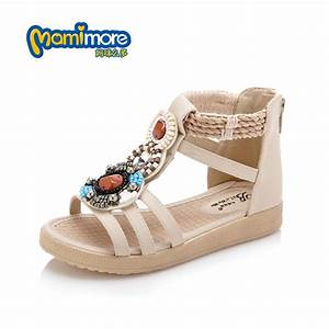 Bohemian Style Girls Sandals 2017 New Summer Fish Mouth ...