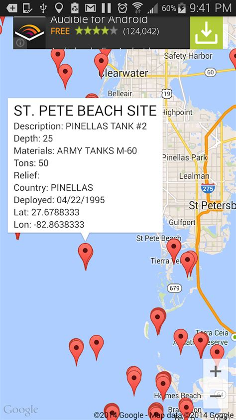 reef map florida fishing scuba android