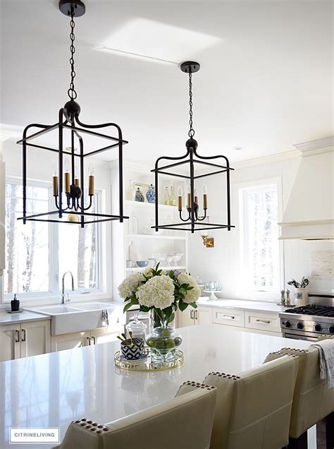 pendants lighting in kitchen citrineliving in swing home tour 2017 4139