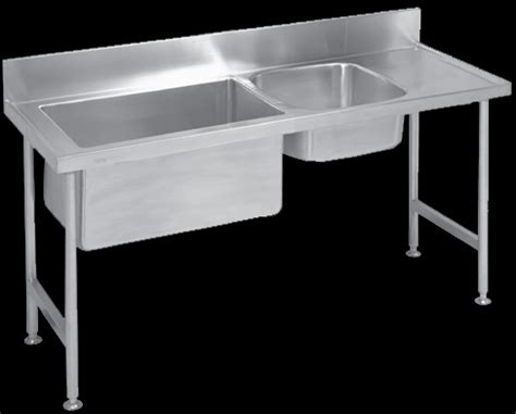 sp stainless steel double bowl preparation catering sink